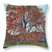A Tree In Sherborn Throw Pillow