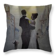 A Tribute To Jack Dance Under A Chessie Moon Throw Pillow
