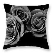 A Trio Of Roses Throw Pillow