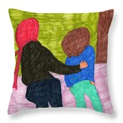 A Trip To The Office Throw Pillow