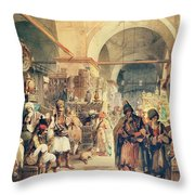 A Turkish Bazaar Throw Pillow