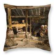 A Turkish Mill, Chikaey Throw Pillow
