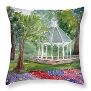 A Turn About The Garden Throw Pillow