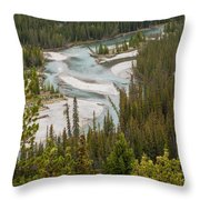 A Turn In The Bow River Throw Pillow