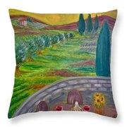 A Tuscan Balcony Throw Pillow