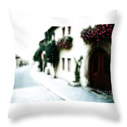 A Tuscan Street Throw Pillow