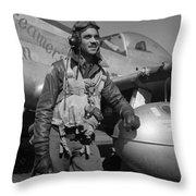 A Tuskegee Airman Throw Pillow