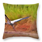 A Twig For Her Nest Throw Pillow