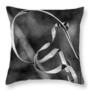 A Twist On Autumn In Black And White Throw Pillow
