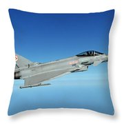 A Typhoon Aircraft From 29 Squadron Royal Air Force Throw Pillow