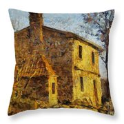 A Typical  Karstic House Throw Pillow