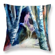 A Unicorn In The Distance Throw Pillow