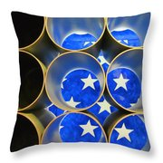 A Unique Perspective On The American Flag Throw Pillow