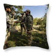 A U.s. Air Force Master Sergeant Throw Pillow