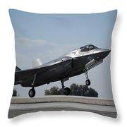 A U.s. Marine Corps F-35b Aircraft Throw Pillow