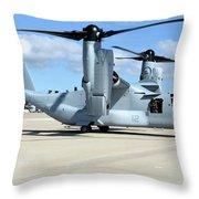 A U.s. Marine Corps Mv-22b Osprey Throw Pillow