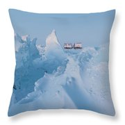 A Usap Hagglunds Vehicle Drives Throw Pillow