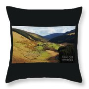 Natural Beauty In Wicklow, Ireland Throw Pillow