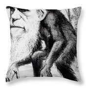 A Venerable Orang Outang Throw Pillow