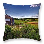 A Verdant Land II Throw Pillow