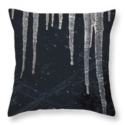 A Very Cold Night Throw Pillow