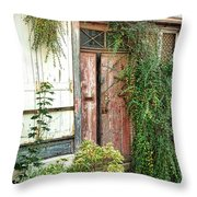 A Very Old Door Throw Pillow