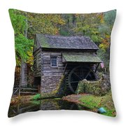 A Very Old Grist Mill Throw Pillow