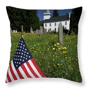 A Veteran's Scene Throw Pillow