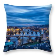 A View At Prague - Czech Republic Throw Pillow