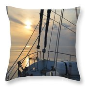 A View From A Boat Throw Pillow
