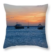 A View From A Catamaran2 - Aruba Throw Pillow