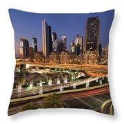 A View From A Mall Throw Pillow
