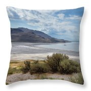A View From Buffalo Point Of White Rock Bay Throw Pillow