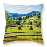 A View From Carpathians Throw Pillow