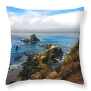 A View From Ecola State Park Throw Pillow