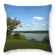 A View From Mount Vernon Throw Pillow