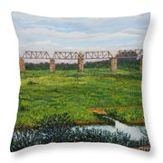 A View From Skukuza Throw Pillow