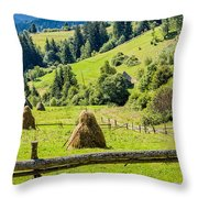 A View From The Carpathians Throw Pillow