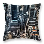 A View From The Empire State Building Throw Pillow