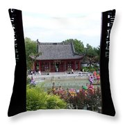 A View From The Gazebo Throw Pillow