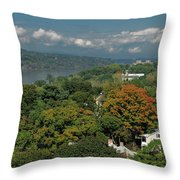 A View From The Hudson River Walkway Throw Pillow
