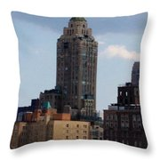 A View From The Met Rooftop Garden Throw Pillow