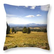 A View From The Peaks  Throw Pillow