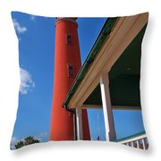 A View From The Porch Throw Pillow
