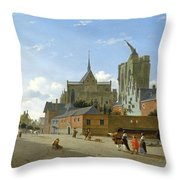A View In Cologne Throw Pillow