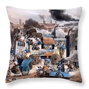 A View In White Chapel Road 1830 Throw Pillow