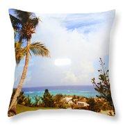 A View Of Bermuda Throw Pillow