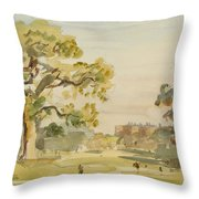 A View Of Chirk Castle, 1916 Throw Pillow