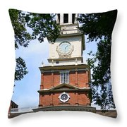 A View Of Independence Hall Throw Pillow