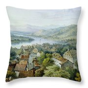 A View Of Karlsruhe Throw Pillow